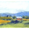 Red Barn and Blue Mountain